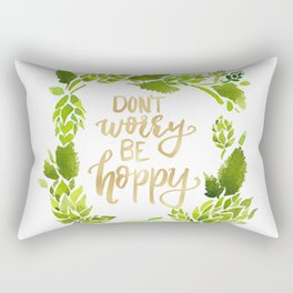 Don't worry be hoppy (green and gold palette) Rectangular Pillow