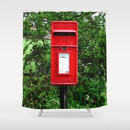Red UK Letterbox Painting Shower Curtain