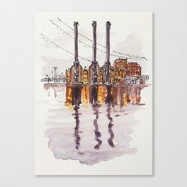 Downtown Waterfront Canvas Print