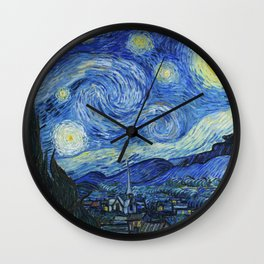 Vincent Van Gogh - The Starry Night 1889 Wall Clock