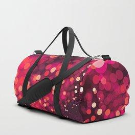 Red Glitter Wave Duffle Bag