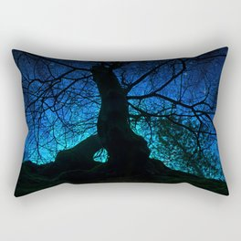 Tree under a spangled sky (dark version) Rectangular Pillow