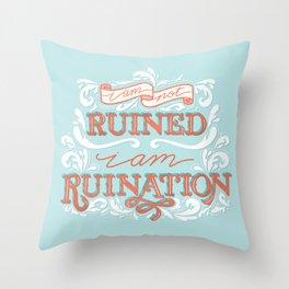 Grishaverse Quote Ruination Blue Orange Throw Pillow