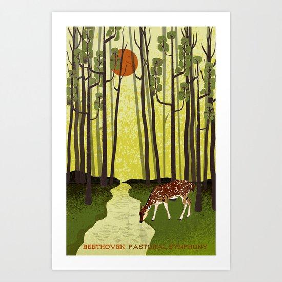 Pastoral Symphony - Symphony No. 6 - Beethoven Art Print