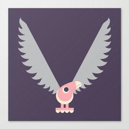 Letter V // Animal Alphabet // Vulture Monogram Canvas Print