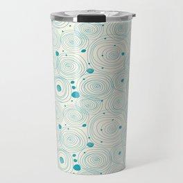 Blue Scribbles Pattern 04 Travel Mug