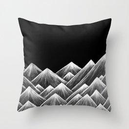 rough mountains Throw Pillow