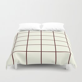 Chocolate and Cream, Ummy Window Panes Duvet Cover