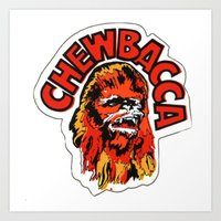 chewbacca Art Prints featuring Chewbacca by Popp Art