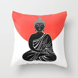 buddha meditation Throw Pillow