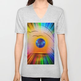 Abstract in perfection - Fertile Imagination Rose Unisex V-Neck