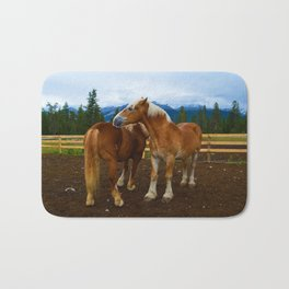 Horses in Jasper National Park, Canada Bath Mat