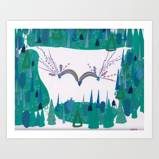 Whimsy, Forest Clearing Art Print