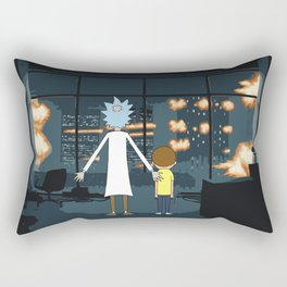 Morty and Rick Club Fight Rectangular Pillow