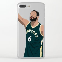 Drake Cartoon Clear iPhone Case