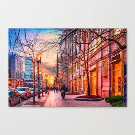 Boston at Christmas. Canvas Print