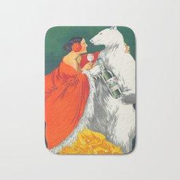 Vintage Italian Liquor Ad Bath Mat