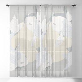 Koi fish 005 Sheer Curtain