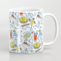 the breakfast club Mugs featuring Brunch Club by ellen marie bae