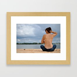 Turn Your Back To The Wind. Framed Art Print