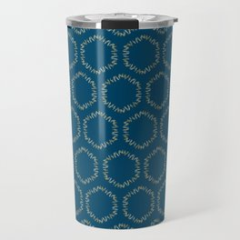 Eucalyptus Patterns with Blue Background Realistic Botanic Patterns Organic & Geometric Patterns Travel Mug
