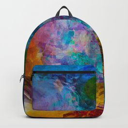 multicolored waves Backpack