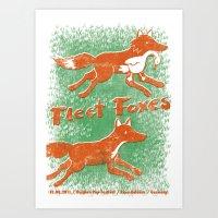 fleet foxes Art Prints featuring Fleet Foxes Gigposter by atomic_ocean