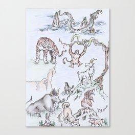 Zodiaco Canvas Print