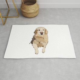 Golden Retriever dog Rug