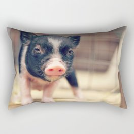 Piebald Pig puppy for Pig Lovers                                        Rectangular Pillow
