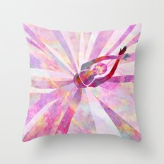 Sleeping Ballerina Floral Throw Pillow