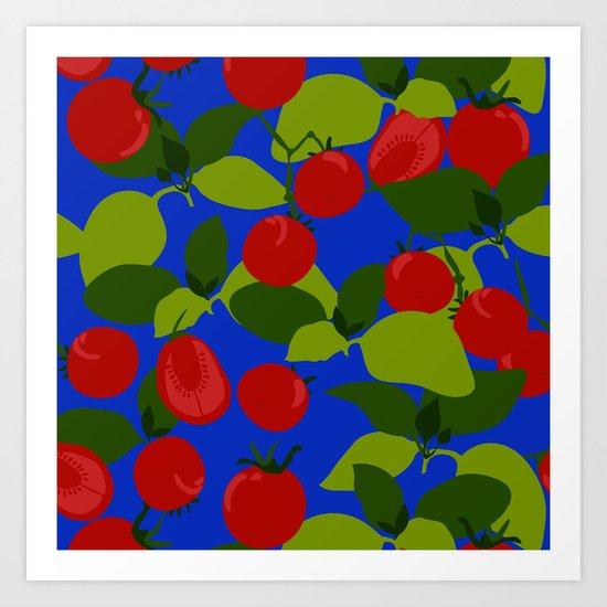 Tomato Basil Pattern Art Print