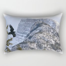 Mt Rundle & Raven (Canadian Rockies) Rectangular Pillow