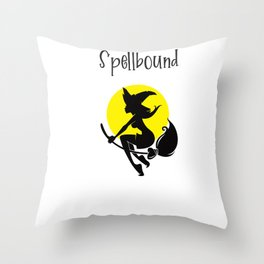 Spellbound witch Throw Pillow