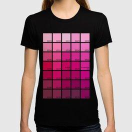 Shades of Pink Pantone T-shirt