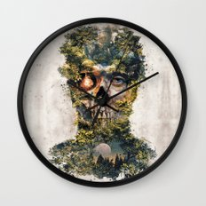 The Gatekeeper Surreal Dark Fantasy Wall Clock