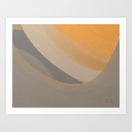 Orange Space Abstract Art Print