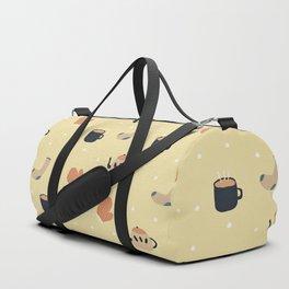 Cozy Winter Retro Pattern Duffle Bag