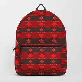 Red Diamonds Pattern Backpack