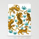 Tigers dance in tropical forest illustration by liemduy