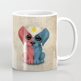Cute Puppy Dog with flag of The Philippines Coffee Mug