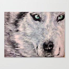 Spirit of White Wolf Canvas Print