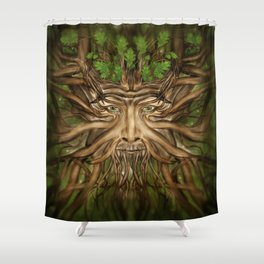 The Green Man - Spring Shower Curtain