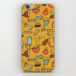 Food Frenzy yellow iPhone Skin