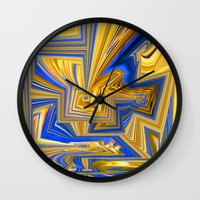 alchemy Wall Clocks featuring Attempted Alchemy by David  Gough