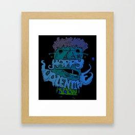 A Beardy Valentine Framed Art Print