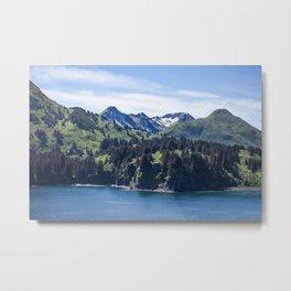Three Sisters Mountains Photography Print Metal Print