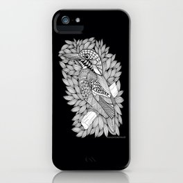 Zentangle Halcyon Black and White Illustration iPhone Case
