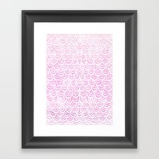 Watercolor Mermaid Fairytale Pink Framed Art Print