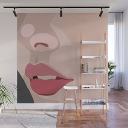 up close lips Wall Mural